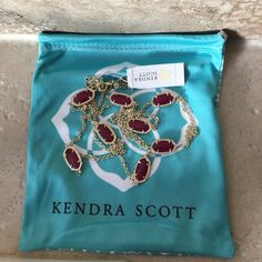 Kendra Scott maroon Jade Kelsie NWT. Maroon Jade Kelsie necklace.  Retailed $95 plus tax. Comes with dust bag. Amazing necklaces to layer or wear alone. ❤️ I sell on several sites. Very few left in this color! Kendra Scott Jewelry Necklaces