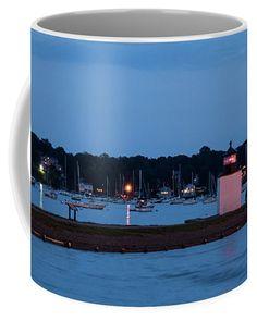 Derby Wharf Lighthouse Sunset Coffee Mug by Jeff Folger.