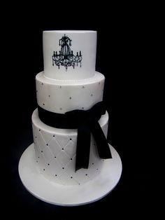 black and white silouette cake - Google Search