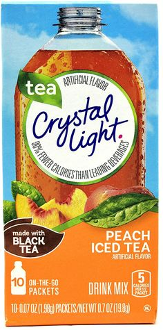 Crystal Light Peach Iced Tea on The Go Drink Mix 10 Sachets for sale online Gourmet Recipes, Snack Recipes, Snacks, Peach Ice Tea, Light Peach, Iced Tea, Mixed Drinks, Coffee Time, Crystals