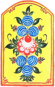 Folk Gorodets painting from Russia. A floral pattern. Russian Love, Russian Folk Art, Folklore, Cultural Patterns, Russian Culture, Africa Art, Using Acrylic Paint, Russian Fashion, Hand Painted Furniture