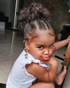 Mixed Baby Hairstyles, Cute Toddler Hairstyles, Kids Curly Hairstyles, Black Girls Hairstyles, Kids Hairstyle, 1950s Hairstyles, Braided Hairstyles, Wedding Hairstyles, Cute Mixed Babies
