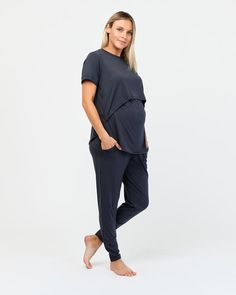 Soft and stretchy organic bamboo is the natural choice for comfortable maternity wear, and our Maternity Lily Top is no exception. Thoughtfully designed to be worn throughout pregnancy as well as postnatal, it features a concealed opening that allows you to comfortably and easily nurse. A flattering fit with room to move, beautifully hemmed sleeves and a soft drape to perfectly fit your bump. Organic bamboo Concealed elastic opening sits comfortably over your bump Mid-length sleeves Maternity Wear, Pregnancy, Lily, Normcore, Mid Length, Bump, Sleeves, Bamboo, How To Wear
