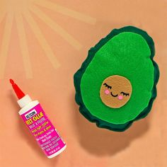 How adorable is this avocado plush made by using Beacon Felt Glue? Glues And Adhesives, Felt Glue, Avocado Face Mask, Felt Diy, Mask Making, Banner, Plush, Current Mood, Make It Yourself