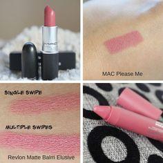 MAC Please Me & Revlon Matte Balm Exclusive: | Mac Lipstick Dupes | The Ultimate Guide