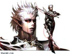 Lineage II - Male Dark Elf