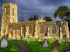 Basking in the warm glow of the late afternoon sun. The Parish Church of Saint Nicholas in the little village of Wilden, Bedfordshire, England.