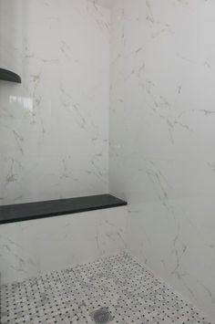 Master bath porcelanosa tile home renovation pinterest - Marmol de carrara ...