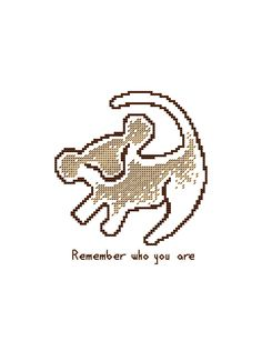 PDF cross stitch pattern, modern cross stitch, Simba cross stitch, Lion King cross stitch chart, disney heroes cross stitch, quote pattern by PolarisStudioDesign on Etsy https://www.etsy.com/listing/519347561/pdf-cross-stitch-pattern-modern-cross