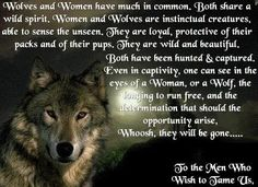 Women who run with wolves.....