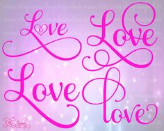 Love font svg - Google Search
