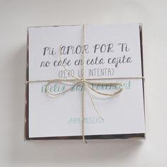 El regalo de este San Valentín (Y sorteo!!) | Papa-moscas Love Gifts, Gifts For Him, Ideas Para Fiestas, Boyfriend Gifts, Party Gifts, Craft Gifts, Valentine Day Gifts, Diy Art, Anniversary Gifts
