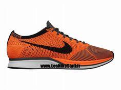 check out d31ab a8a82 Officiel Nike Flyknit Racer Chaussure de Running Nike Mixte Pas Cher Pour  Homme Orange Noir 526628-810