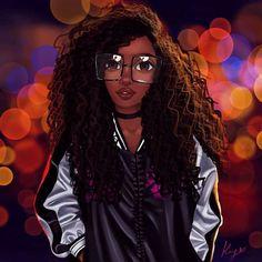 Love of Art. Black Art Painting, Black Artwork, Black Love Art, Black Girl Art, Drawings Of Black Girls, Black Girl Cartoon, Natural Hair Art, Black Art Pictures, Queen Art