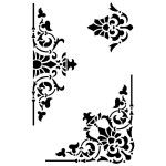 "(New) Decorative Trio 12x18"" Stencil by Artisan Enhancements"