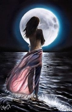 Moondance Art Print by Chris Perry Moon Images, Moon Pictures, Beautiful Fantasy Art, Beautiful Moon, Moon Photography, Moon Goddess, Moon Art, Fairy Art, Night Skies