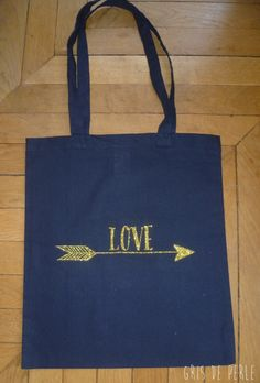 « TOTE BAG MARINE LOVE OR » (14,00 €)