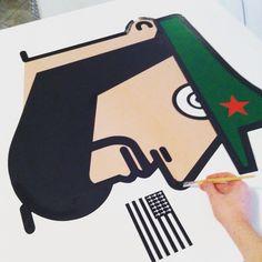 Work in progress! Fidel Castro ;) #painting #popart #pop #folks #folk #mate #amazing #art #artist #graffiti #museum #canvas #artist #cuba #losangeles #artstudio #masterpiece #milano #paintings #streetart #flag #picoftheday #inspiration #streetarteverywhere #spraypaint #instago #iaboworld #spraycan #instagallery