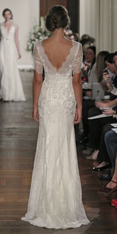 Jenny Packham Wedding Dress - Mimosa This dress back is so pretty!