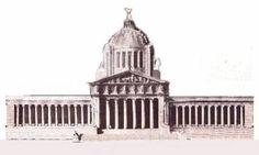 Proyecto del Palacio Legislativo que sería interrumpido por el estallido revolucionario.