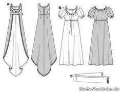 caratmodello vestito stile impero