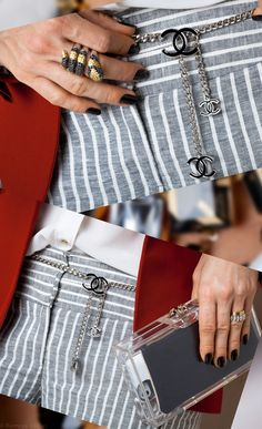 Cinto Chanel, Clutch Pandora Charlotte Olympia