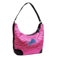 Detroit Lions NFL Quilted Hobo Bag Purse by Littlearth