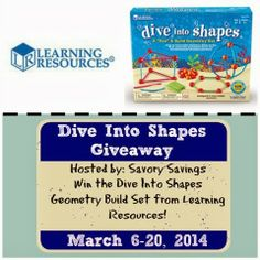 Learning Resources Dive Into Shapes #Giveaway