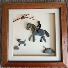 A very happy customer for my pebbleart horse #pebbleart #pebbleartist #pebbleart