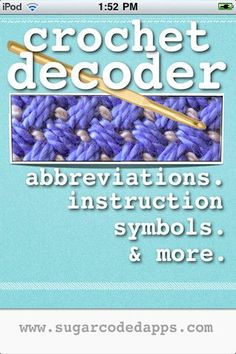 help understanding crochet instructions... This is helpful for those who are self taught and want to read patterns!