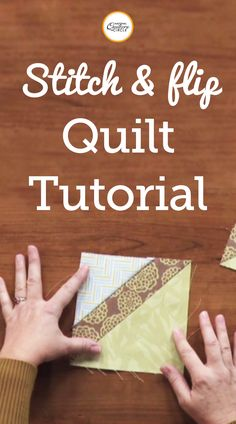 Stitch and Flip Quilt Tutorial Quilting Board, Quilting Tips, Quilting Tutorials, Machine Quilting, Quilting Projects, Quilting Designs, Sewing Tutorials, Patchwork Quilting, Sewing Ideas