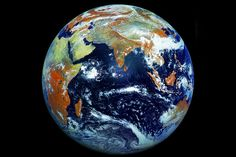 Russian Satellite does the best Earth yet.