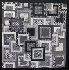 Black and White with Threads of Grey by Carol Bonamy.  2014 Queensland Quilters show