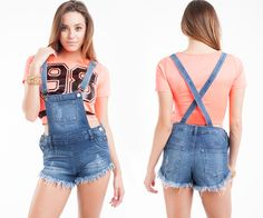Daisy Dukes, Distressed Shorts, Overall Shorts, Ootd Fashion, Womens Fashion, Denim Overalls, Blue, Outfits, Shopping
