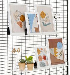Workshop Series Acrylic Shelving for Gridwall, Set of 2 - Clear L Shaped Shelves, Craft Fair Displays, Transparent Design, Thing 1, Artwork Display, Pop Up Shops, Rack Shelf, Graphic Design Services, Craft Fairs