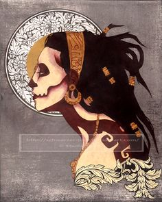 Ixtab - Mayan Goddess of Suicide. To our modern society, She may seem like a terrible Goddess, but in ancient Mayan society, suicide was an acceptable way for one to die; it was believed to lead them  directly into paradise.