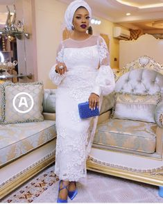 Stunning white lace styles that will make you fall in love with white African Party Dresses, African Wedding Attire, Latest African Fashion Dresses, African Dresses For Women, African Print Dresses, African Attire, White Lace Gown, African Fashion Traditional, Lace Gown Styles