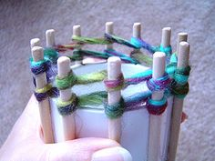 Make your own round loom for knitting