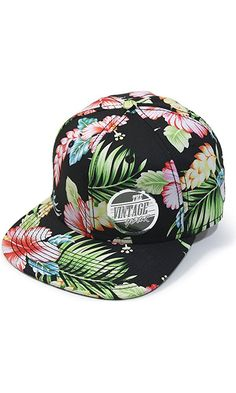 Premium Floral Cotton Twill Adjustable Flat Bill Snapback Hats Baseball Caps  (Varied Colors) (Hawaiian) Best Price f8f044228343