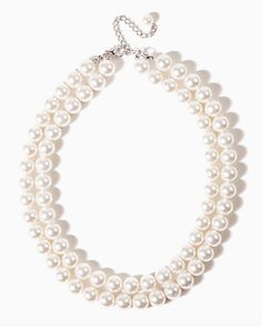 "charming charlie | 18"" Double-Strand Pearl Necklace 