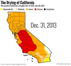 Watch drought take over the entire state of California in one GIF. Scary!