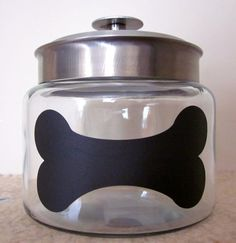 Chalkboard Dog Treat Jar Perfect for Pet by EtcherGirlsExpanded, $16.00