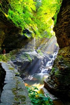 Canyon, Watkins Glen, New York  photo via laura  This trip is in the planning stages - now to get a pic like this!