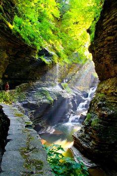 Canyon, Watkins Glen, New York photo via laura