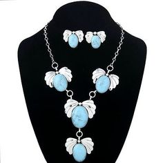 Native-American-Navajo-Sterling-Silver-Turquoise-Squash-Blossoms-Y-Necklace