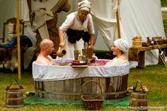 Love this replica of a medieval bath.  I want to do this so much!