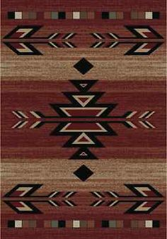 8X10 Lodge Cabin Southwest Southwestern Rio Grande Red Black Beige Area Rug Rugs | Home & Garden, Rugs & Carpets, Area Rugs | eBay!