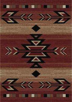 8X10 Lodge Cabin Southwest Southwestern Rio Grande Red Black Beige Area Rug Rugs   Home & Garden, Rugs & Carpets, Area Rugs   eBay!