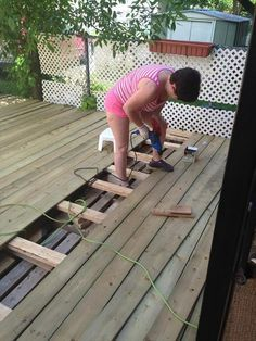 DIY Pallet Deck Tutorial | 99 Pallets                                                                                                                                                                                 More