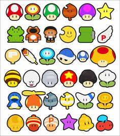 Image result for mario pixel items